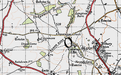 Old map of Ledgemore Bottom in 1946
