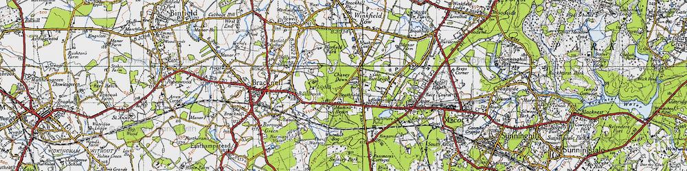 Old map of Whitmoor Bog in 1940