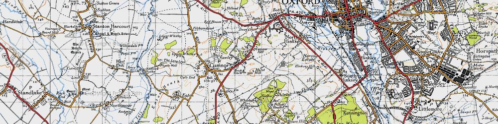 Old map of Whitebarn in 1947