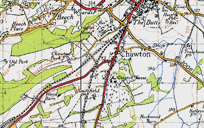 Old map of Chawton in 1940