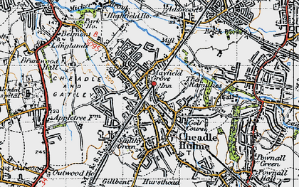 Old map of Cheadle Hulme in 1947