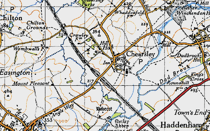 Old map of Chearsley in 1946