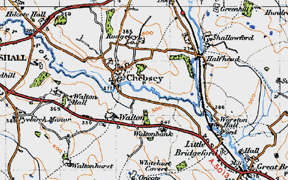 Old map of Chebsey in 1946