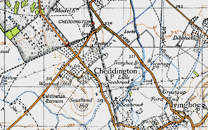 Old map of Westend Hill in 1946