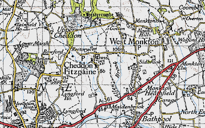 Old map of Allen's Brook in 1946