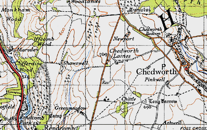 Old map of White Way in 1946