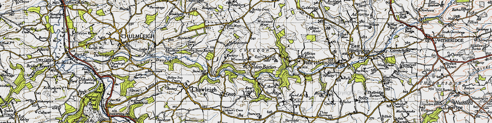 Old map of Winswood Moor in 1946