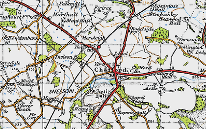 Old map of Astle Hall in 1947