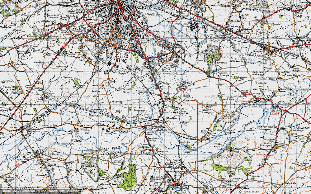 Old Map of Chellaston, 1946 in 1946