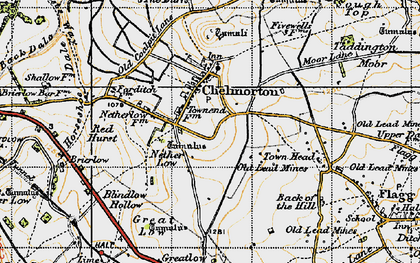 Old map of Chelmorton in 1947