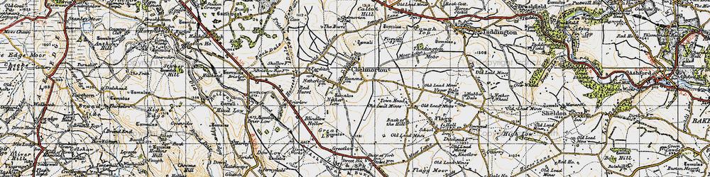 Old map of Chelmorton in 1947