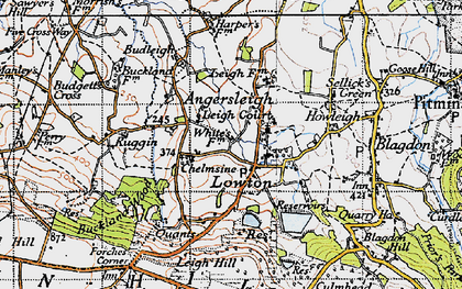 Old map of Leigh Hill in 1946
