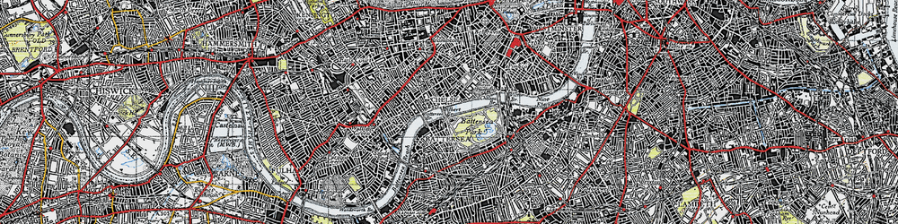 Old map of Chelsea in 1945