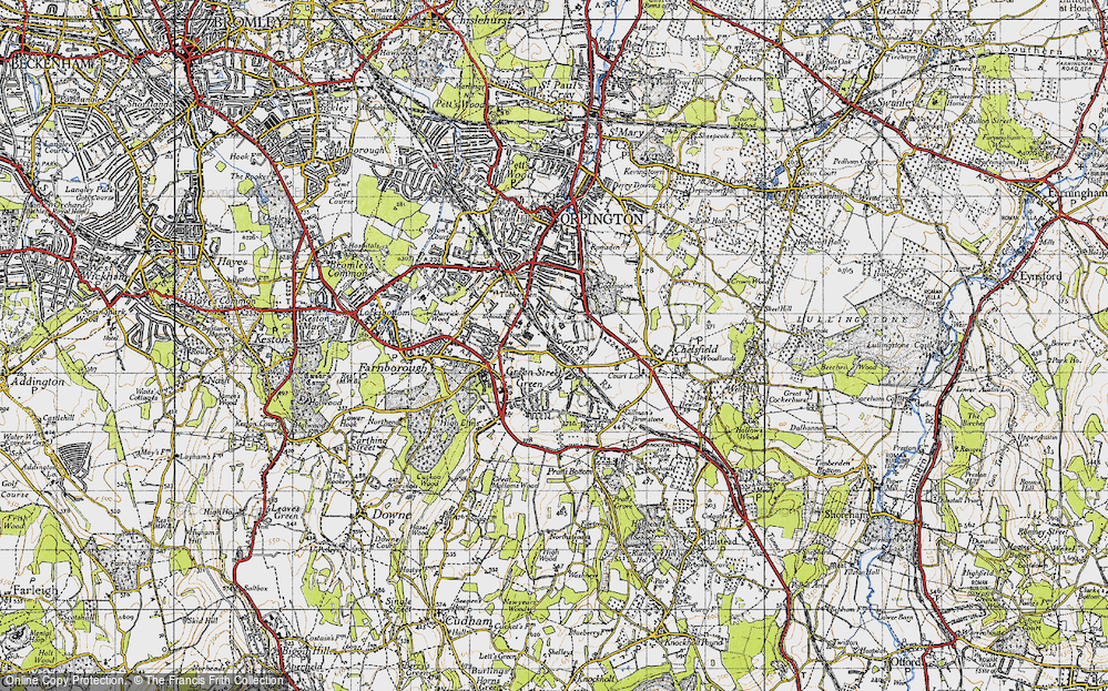 Old Map of Chelsfield, 1946 in 1946