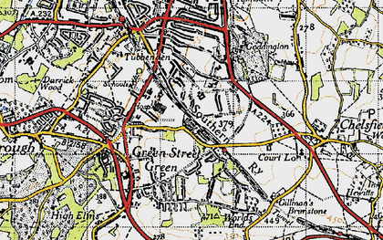 Old map of Chelsfield in 1946