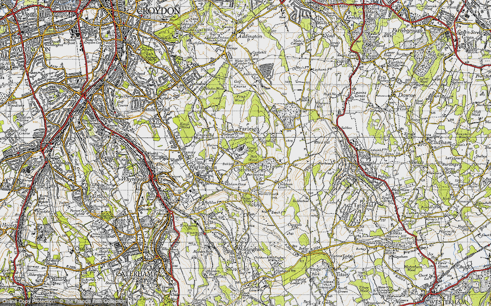 Old Map of Chelsham, 1946 in 1946