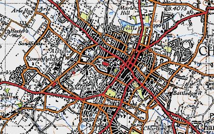 Old map of Cheltenham in 1946