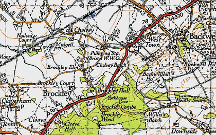 Old map of Backwell Hill Ho in 1946