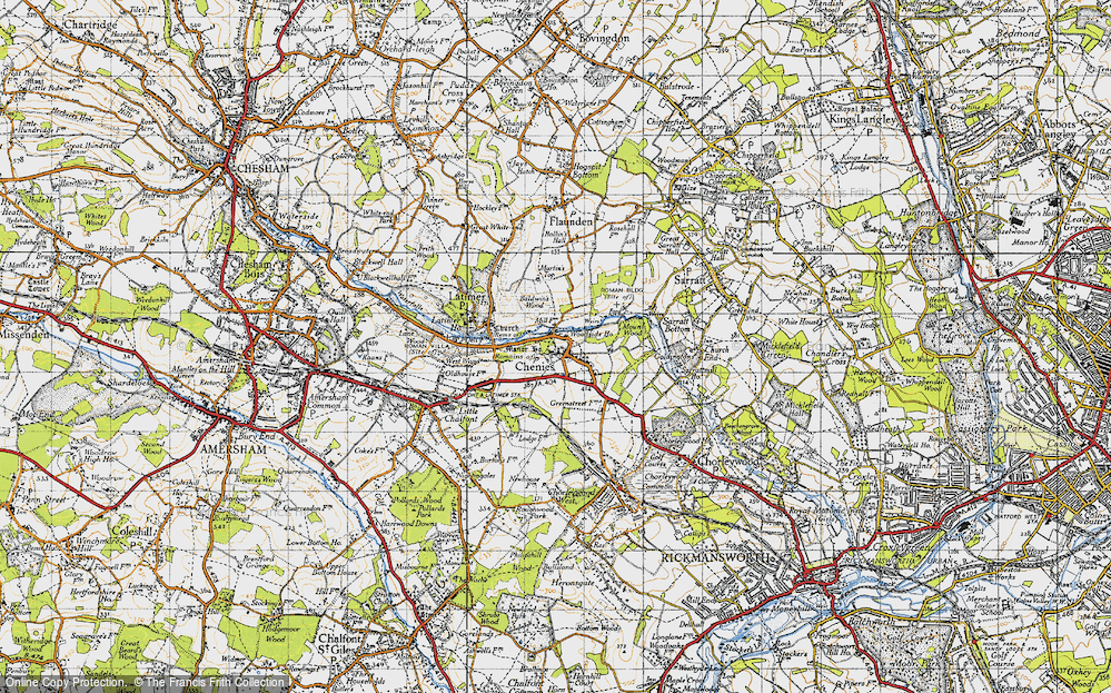 Old Map of Chenies, 1946 in 1946