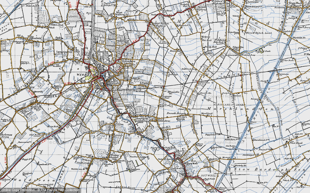 Old Map of Historic Map covering Banyer Hall in 1946