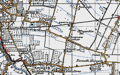 Old map of Banyer Hall in 1946