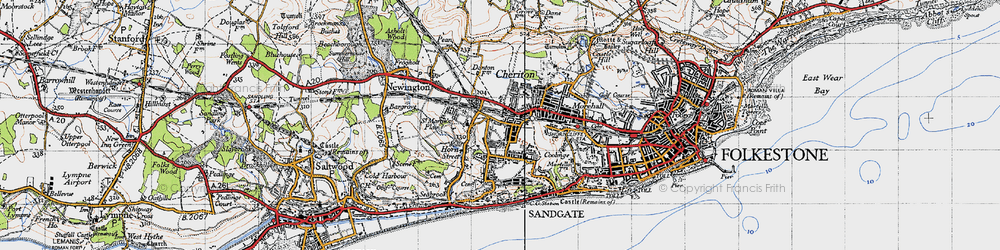 Old map of Cheriton in 1947