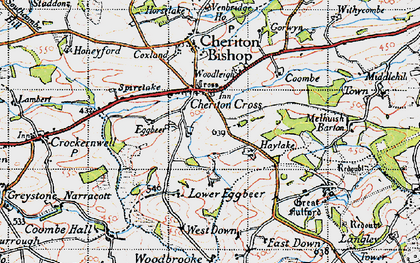 Old map of Wooston Castle in 1946