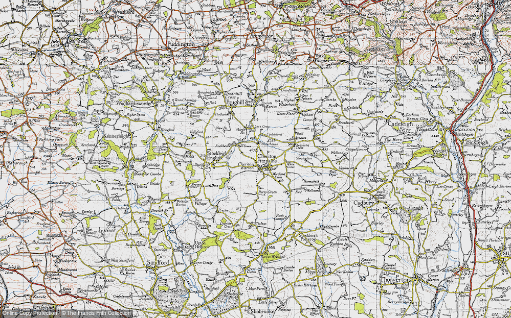 Old Map of Cheriton Fitzpaine, 1946 in 1946