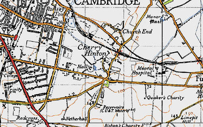 Old map of Cherry Hinton in 1946