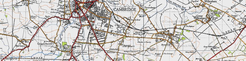 Old map of Addenbrooke's Hospl in 1946