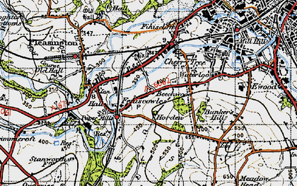 Old map of Cherry Tree in 1947