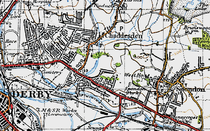 Old map of Cherrytree Hill in 1946