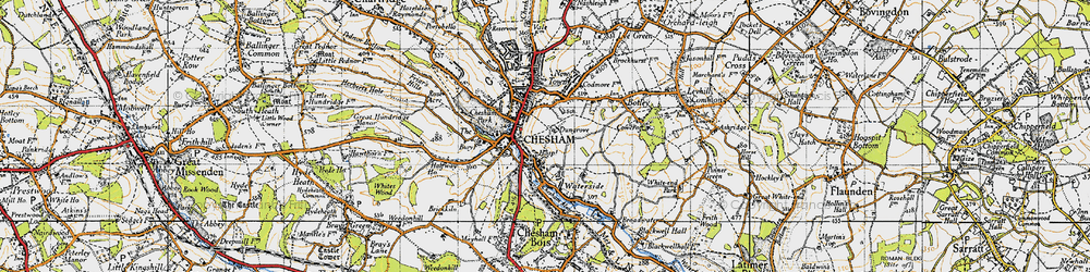Old map of Chesham in 1946