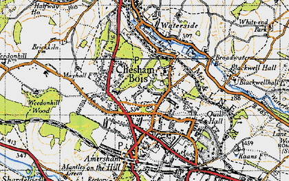 Old map of Chesham Bois in 1946