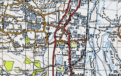 Old map of Cheshunt in 1946