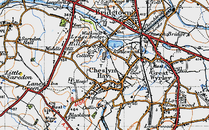 Old map of Cheslyn Hay in 1946