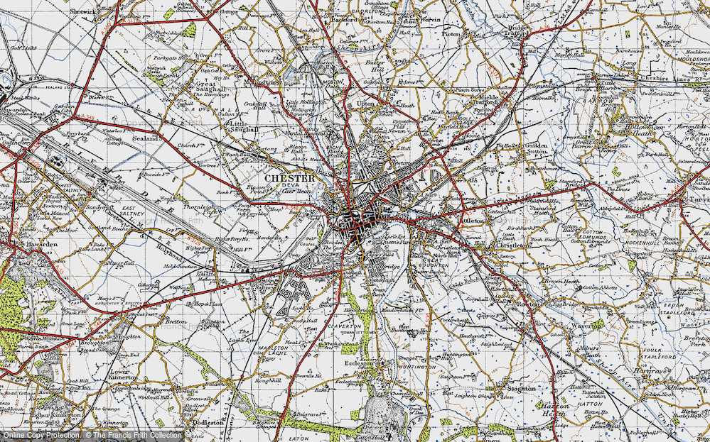 Old Map of Chester, 1947 in 1947