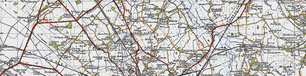 Old map of Chester Zoo in 1947