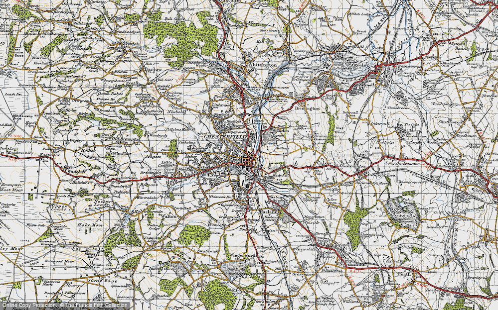 Old Map of Chesterfield, 1947 in 1947
