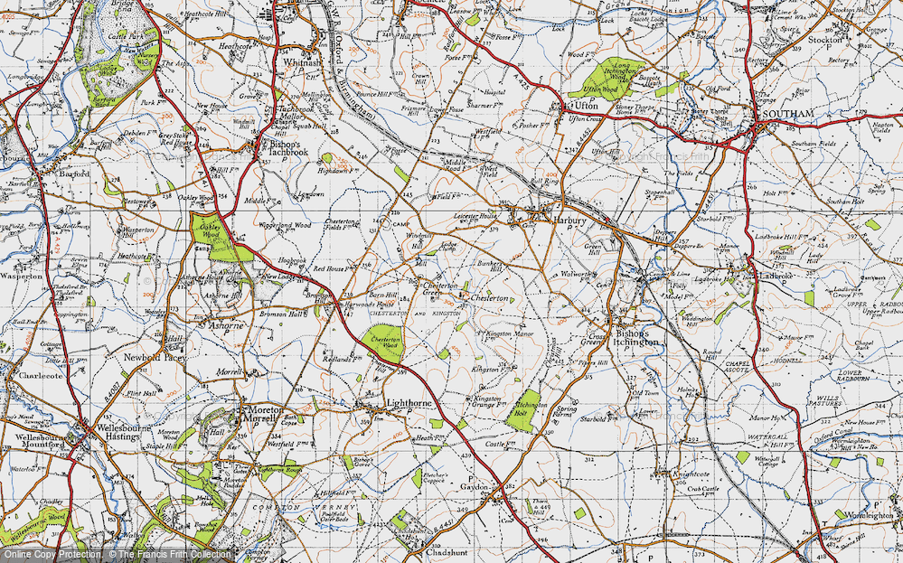 Old Map of Chesterton, 1946 in 1946