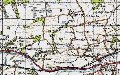 Old map of Westley Bank in 1947