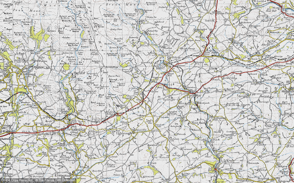 Old Map of Historic Map covering Zeaston in 1946