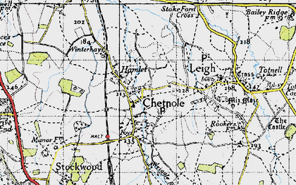 Old map of Wriggle River in 1945