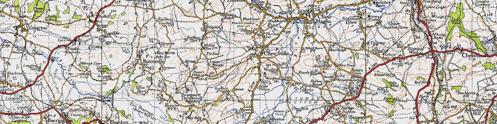 Old map of Woodford Hill in 1946