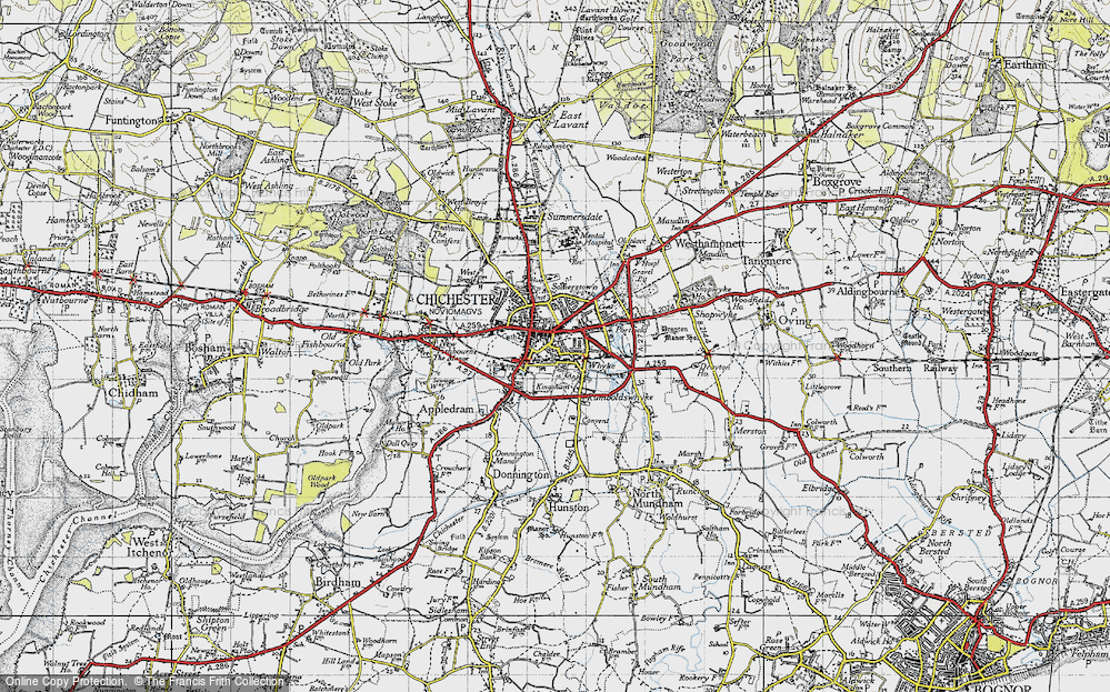 Old Map of Chichester, 1945 in 1945