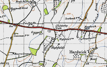 Old map of Childerley Gate in 1946