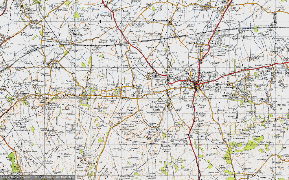 Old Map of Childrey, 1947 in 1947