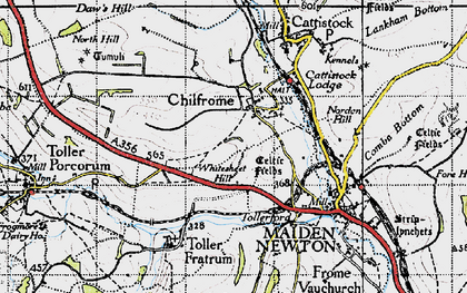 Old map of Whitesheet Hill in 1945