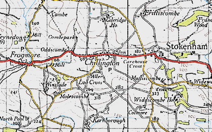 Old map of Chillington in 1946