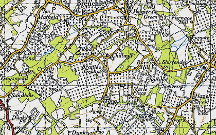 Old map of Tibb's Court in 1946